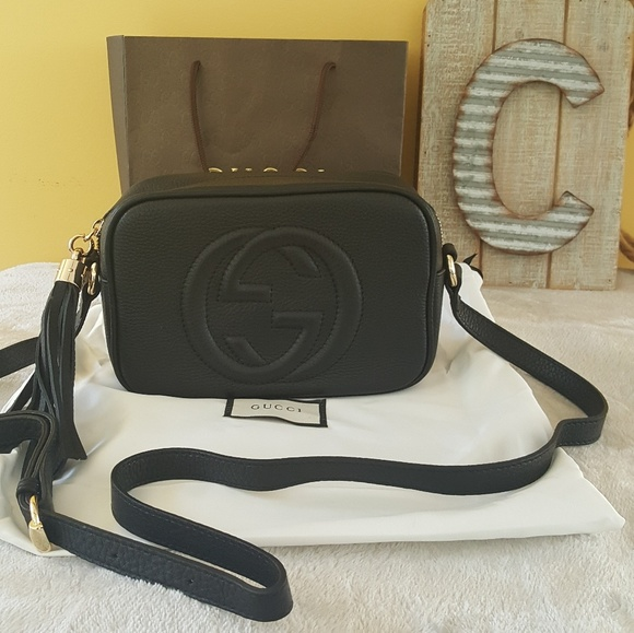 4334aa2676da Gucci Bags | Authentic Soho Disco Black Crossbody Bag | Poshmark
